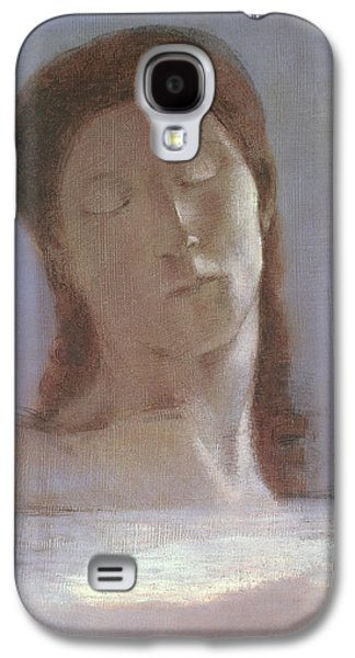 The Closed Eyes, 1890 Galaxy S4 Case by Odilon Redon