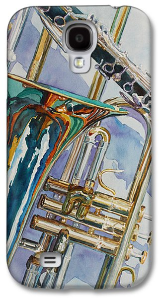 Trombone Galaxy S4 Case - The Color Of Music by Jenny Armitage