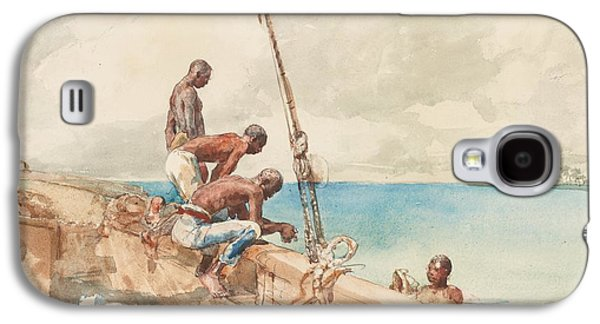 The Conch Divers Galaxy S4 Case by Winslow Homer