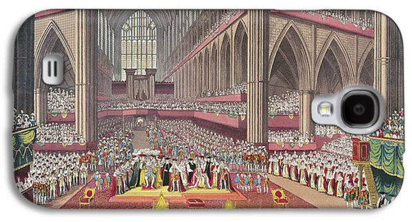 The Coronation Of King William Iv And Queen Adelaide, 1831 Colour Litho Galaxy S4 Case by English School