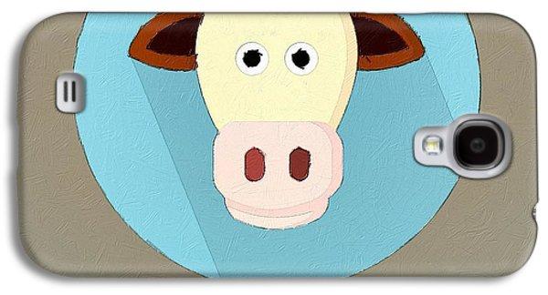 The Cow Cute Portrait Galaxy S4 Case by Florian Rodarte