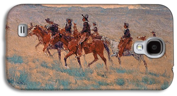 The Cowpunchers Galaxy S4 Case by Frederic Remington