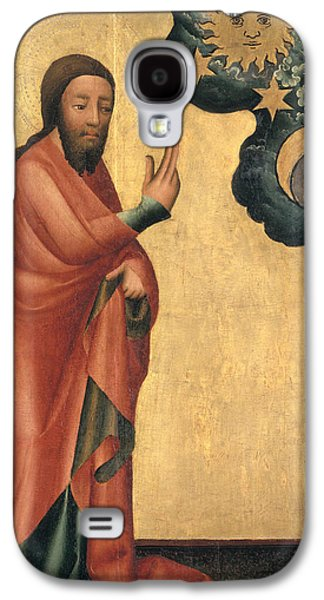 The Creation Of The Sun, Moon And Stars, Detail From The Grabow Altarpiece, 1379-83 Tempera On Panel Galaxy S4 Case