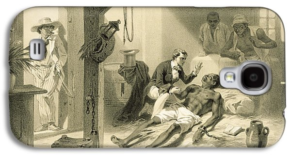 The Death Of Uncle Tom, Plate 11 Galaxy S4 Case by Adolphe Jean-Baptiste Bayot