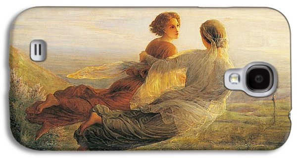 The Departure Of The Soul Galaxy S4 Case by Louis Janmot