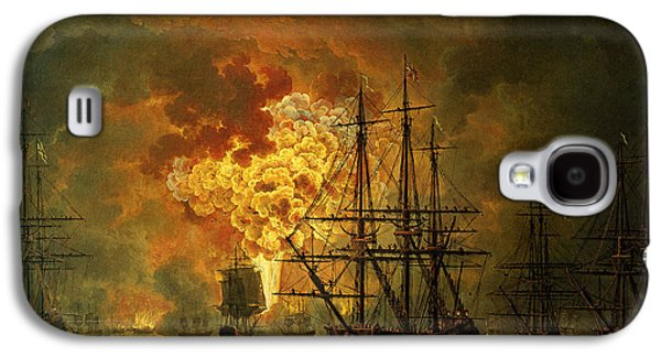 The Destruction Of The Turkish Fleet At The Bay Of Chesma Galaxy S4 Case by Jacob Philippe Hackert