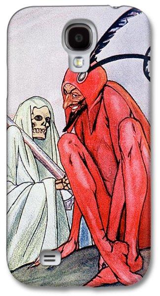 The Devil And Death. Illustration By Echea From La Esfera, 1914 Galaxy S4 Case by Echea