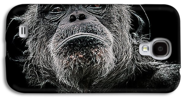 Chimpanzee Galaxy S4 Case - The Dictator by Paul Neville