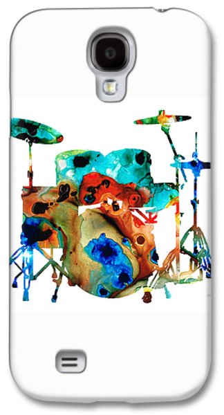 Drum Galaxy S4 Case - The Drums - Music Art By Sharon Cummings by Sharon Cummings