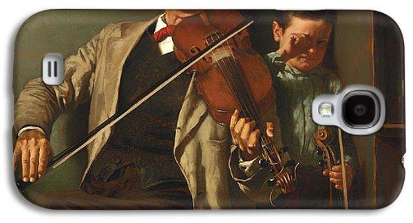 Violin Galaxy S4 Case - The Duet by Mountain Dreams
