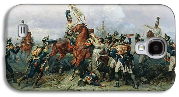 The Exploit Of The Mounted Regiment In The Battle Of Austerlitz, 1884 Oil On Canvas Galaxy S4 Case by Bogdan Willewalde