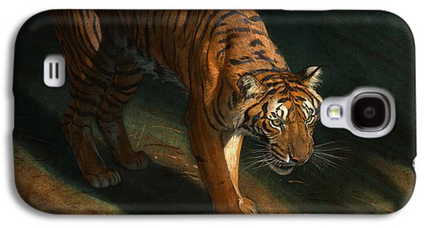 The Eye Of The Tiger Galaxy S4 Case by Aaron Blaise