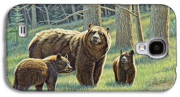 Bear Galaxy S4 Case - The Family - Black Bears by Paul Krapf