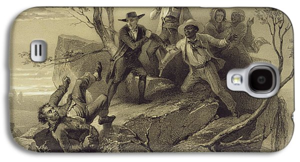 The Fight Between George And Tom Loker Galaxy S4 Case by Adolphe Jean-Baptiste Bayot