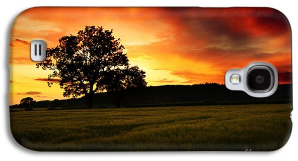 the Fire on the Sky Galaxy S4 Case by Angel  Tarantella