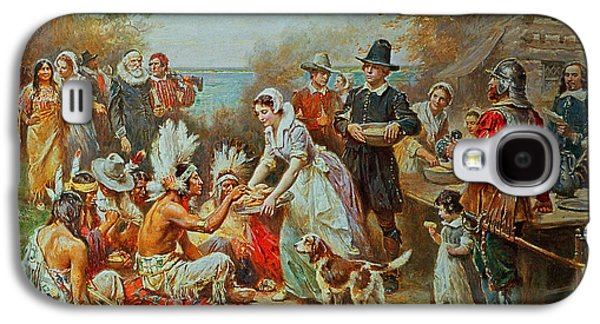 The First Thanksgiving Galaxy S4 Case by Jean Leon Gerome Ferris
