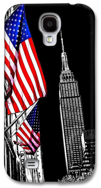 Empire State Building Galaxy S4 Case - The Flag That Built An Empire by Az Jackson