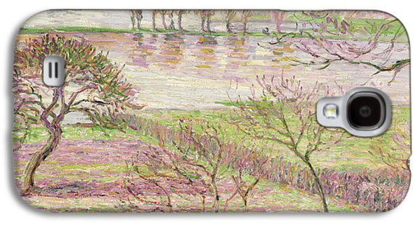 Impressionism Galaxy S4 Case - The Flood At Eragny by Camille Pissarro