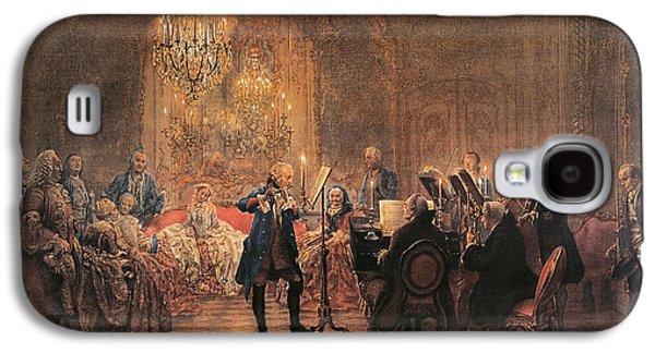 The Flute Concert Galaxy S4 Case by Adolph Friedrich Erdmann von Menzel