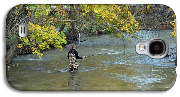 The Fly Fisherman Galaxy S4 Case by Kay Novy