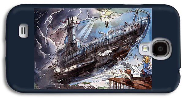 The Flying Submarine Galaxy S4 Case