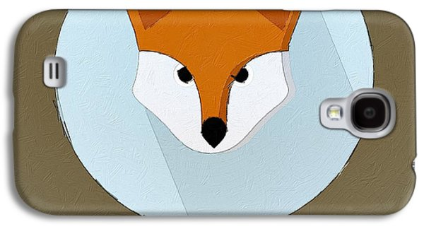 The Fox Cute Portrait Galaxy S4 Case by Florian Rodarte