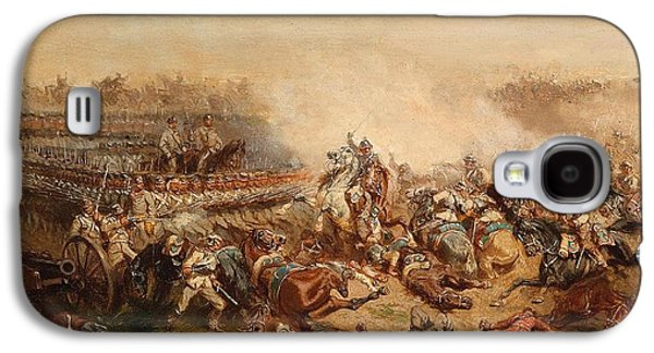 The Fray Between Prussian And Austrian Cuirassiers Infantrymen Galaxy S4 Case by Celestial Images
