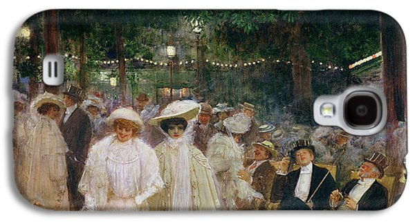 The Gardens Of Paris, Or The Beauties Of The Night, 1905 Oil On Canvas Galaxy S4 Case by Jean Beraud