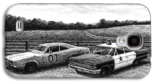 The General Lee And Barney Fife's Police Car Galaxy S4 Case by Janet King