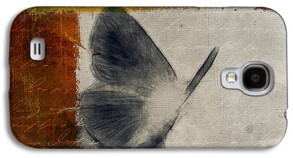 The Giant Butterfly And The Moon - S09-22cbrt Galaxy S4 Case by Variance Collections