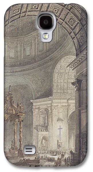 The Glowing Cross In St Peters, Rome, On Maundy Thursday Galaxy S4 Case by Charles Norry