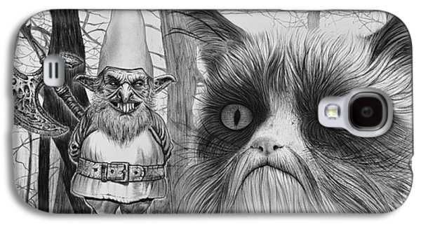 The Gnome And The Cat Galaxy S4 Case by Wave