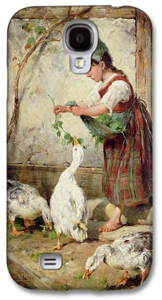 The Goose Girl Galaxy S4 Case by Antonio Montemezzano
