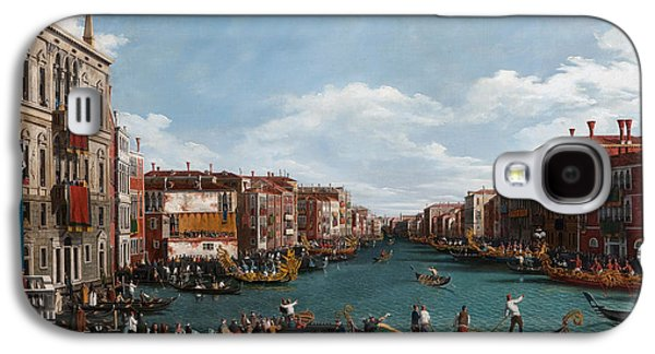 The Grand Canal At Venice Galaxy S4 Case by Antonio Canaletto