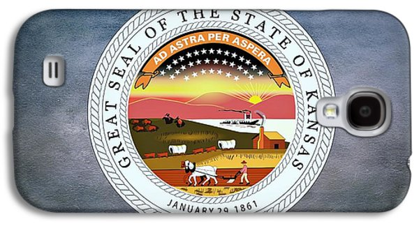 The Great Seal Of The State Of Kansas  Galaxy S4 Case by Movie Poster Prints