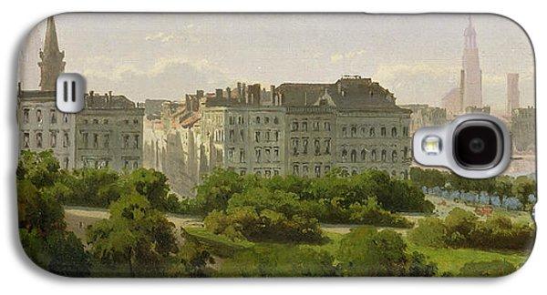 The Hamburg Kunsthalle And The Wallanlagen At The Glockengiesserwal Galaxy S4 Case by Rudolf von Turcke