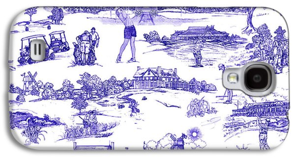 The Hamptons Historical Golf Courses Galaxy S4 Case by Kimberly McSparran