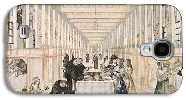 The Infirmary Of The Sisters Of Charity During A Visit Of Anne Of Austria  Galaxy S4 Case by Abraham Bosse
