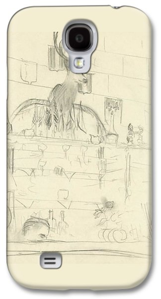 The Interior Of A Bar Galaxy S4 Case by Carl Oscar August Erickson
