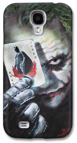 Knight Galaxy S4 Case - The Joker Heath Ledger  by Viola El