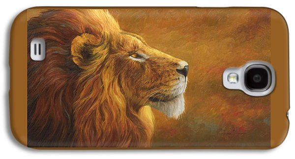 Lion Galaxy S4 Case - The King by Lucie Bilodeau