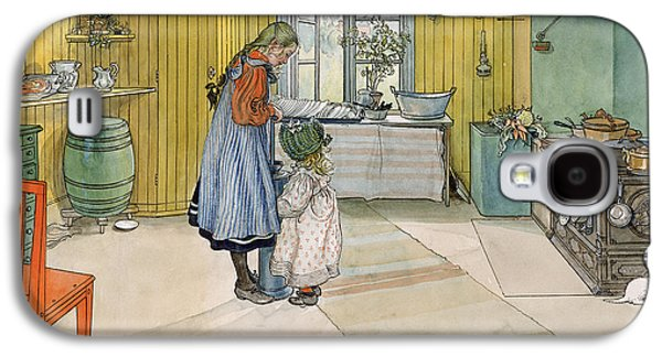 The Kitchen From A Home Series Galaxy S4 Case by Carl Larsson