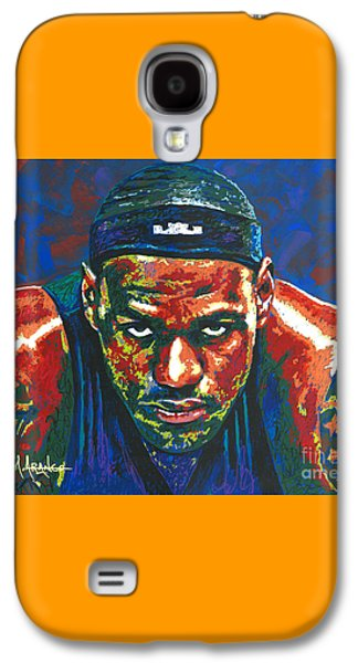 The Lebron Death Stare Galaxy S4 Case by Maria Arango