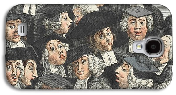 The Lecture, Illustration From Hogarth Galaxy S4 Case by William Hogarth
