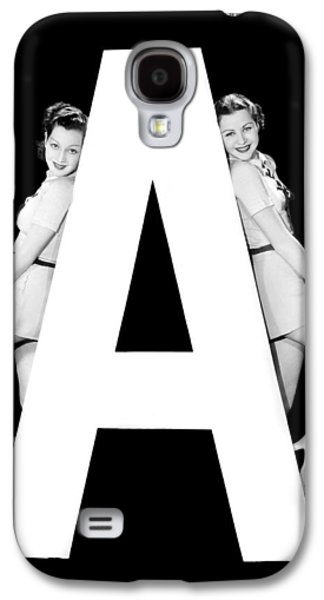 The Letter a And Two Women Galaxy S4 Case