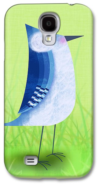 The Letter Blue J Galaxy S4 Case by Valerie Drake Lesiak