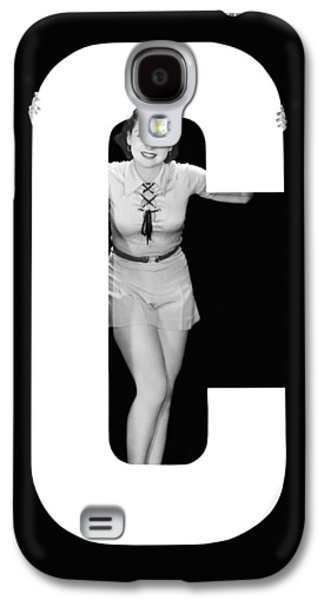 The Letter c And A Woman Galaxy S4 Case
