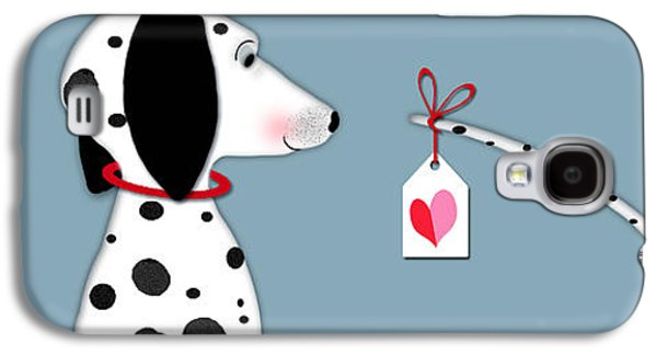 The Letter D For Dalmatian Galaxy S4 Case by Valerie Drake Lesiak