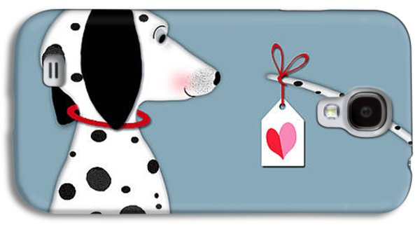 Dog Galaxy S4 Case - The Letter D For Dalmatian by Valerie Drake Lesiak