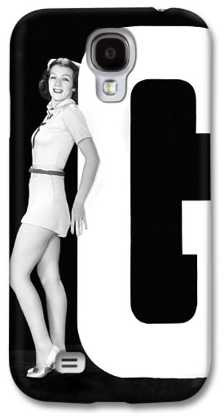 The Letter g And A Woman Galaxy S4 Case by Underwood Archives